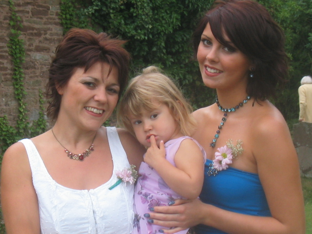 My two beautiful daughters, Donna and Kayleigh with my grand daughter Molly